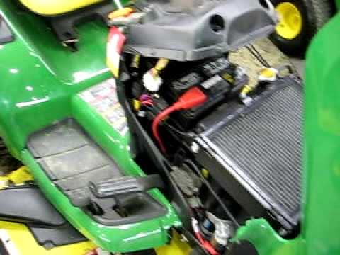 Thunderbird Show Park John Deere X540 Garden Tractor engine running  YouTube