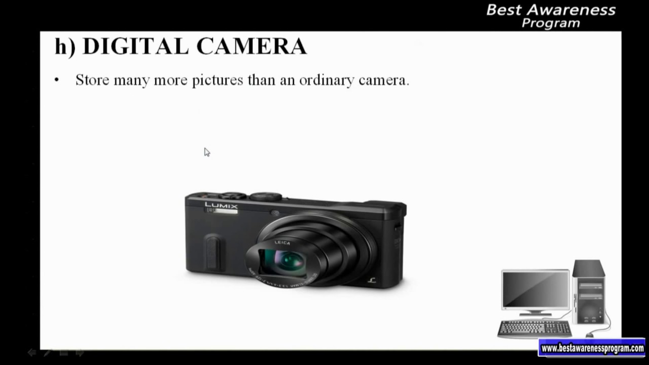 Hardware And Software Types Of Input Device Digital Camera Part 37 Different Cameras 3rd Term
