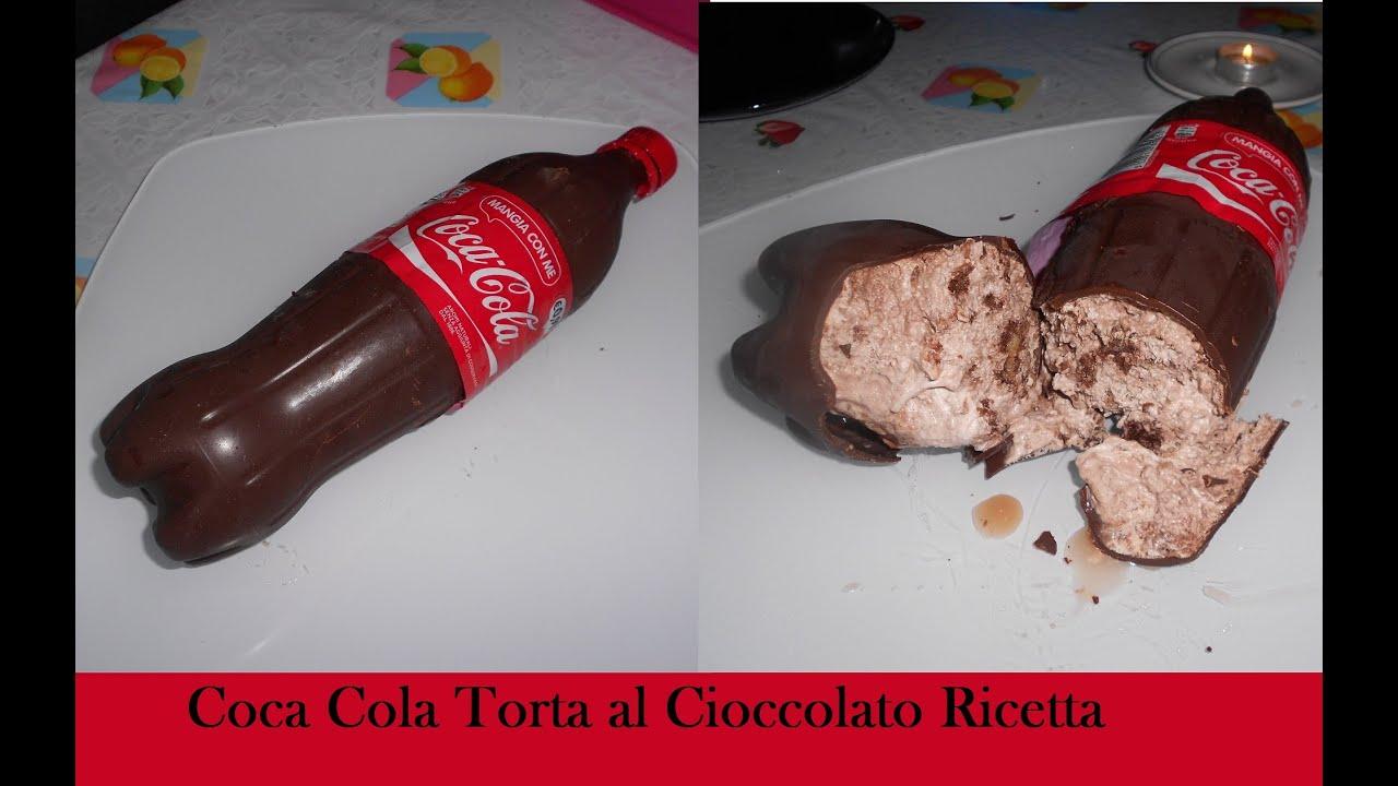 torta bottiglia coca cola con cioccolato fondente pandispagna e panna video ricetta
