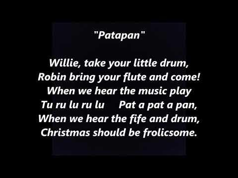 Patapan Pat-a-pan French Christmas carol LYRICS WORDS FAVORITE TRENDING SING ALONG SONGS
