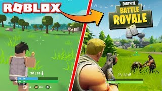FORTNITE REAL VS FORTNITE EN ROBLOX