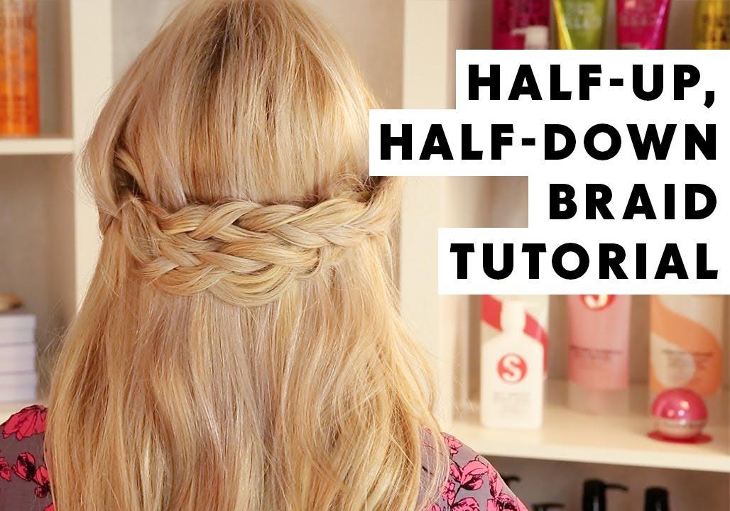 Hairstyles For Short Hair Half Up Half Down: Half Up, Half Down Braid Hair Tutorial