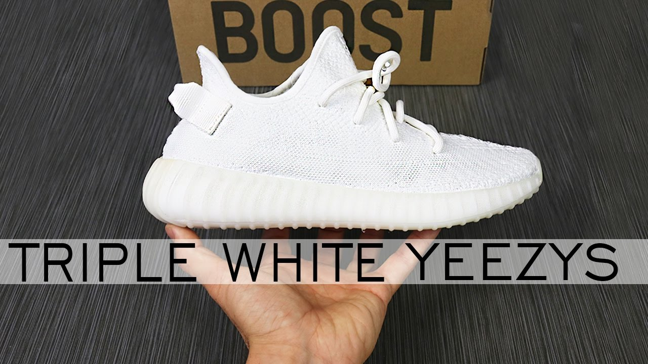 82ee6d44ab7 UNBOXING CREAM YEEZY BOOST 350 V2   TRIPLE WHITE YEEZY REVIEW   ALEX COSTA