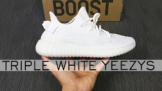 UNBOXING CREAM YEEZY BOOST 350 V2   TRIPLE WHITE YEEZY REVIEW   ALEX COSTA