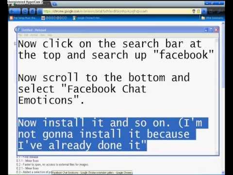 How To Put An Emoticon List At The Top Of Your Facebook Chat Box (Google Chrome Only)