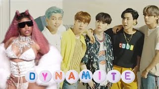 I put nicki verse on the new single of bts 'dynamite' because love them both and to hear what it sounds like when minaj had a it. no ...
