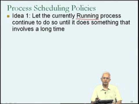 Mod-04 Lec-17 Process scheduling