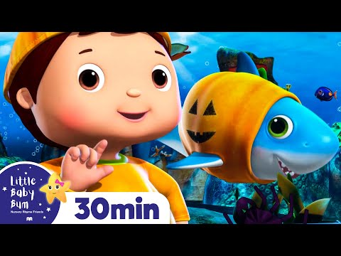 Halloween Shark - Halloween Songs | Nursery Rhymes & Kids Songs - ABCs and 123s | Little Baby Bum