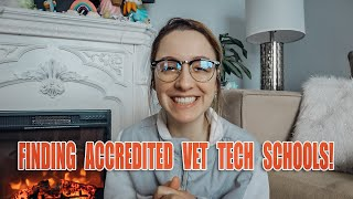How & where to find accredited Vet Tech schools!