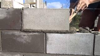 Укладка пустотелых цементно песчанных блоков(, 2013-10-14T06:05:58.000Z)
