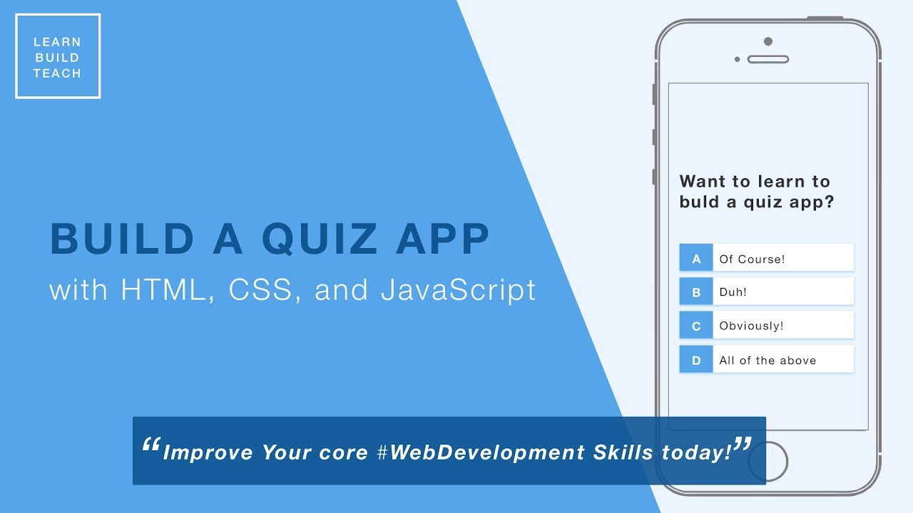 Build a Quiz App (10) - Fetch API to Load Local Questions