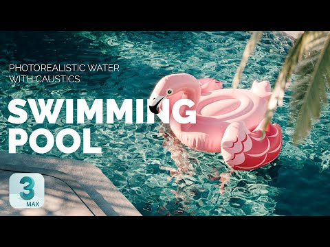 Photorealistic Water Material With Caustics   3ds Max + Corona Renderer