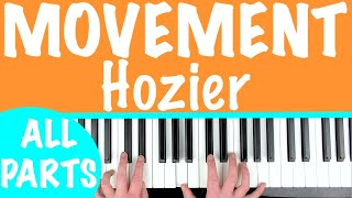 How to play 'MOVEMENT' by Hozier | Piano Chords Tutorial Lesson