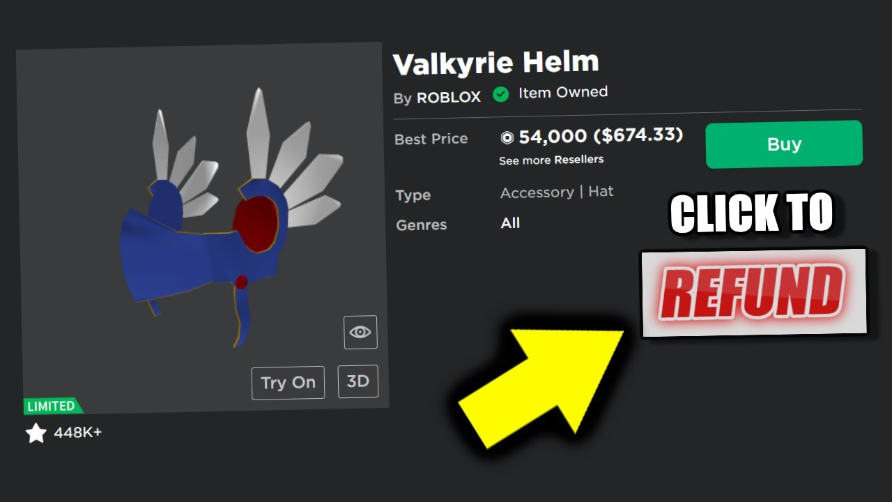 How To Refund Items On Roblox Youtube