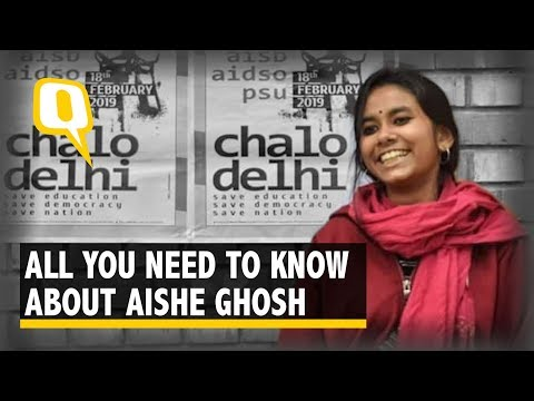 Shy Painter to Fiery JNUSU President: Chronicling Aishe Ghosh's Journey   The Quint