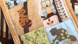 Lambs And Ivy's Enchanted Forest 6 Pc Baby Crib Bedding Set | Ideal For A Boy Or Girl