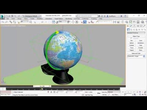 3D Studio Max - Geographic Globe