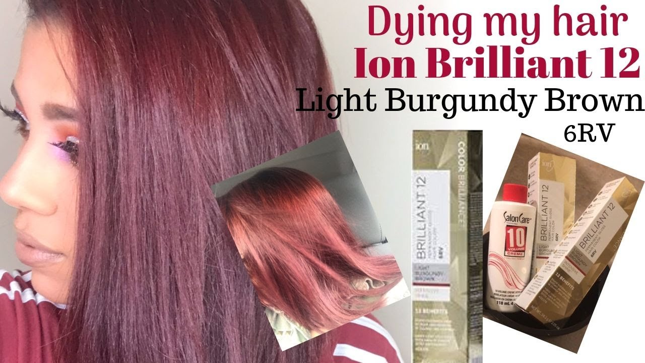Dying My Hair Light Burgundy Brown Youtube
