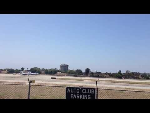 "F-18 Fighter Jet - Takeoff  ""Long Beach Airport"""