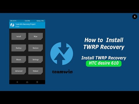 install twrp custom recovery in htc desire 610 (a3ul)