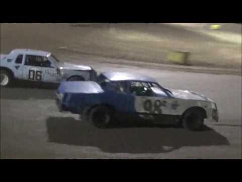 Salina Speedway Budweiser IMCA Hobby stocks (Heats & Feature) 7-21-17