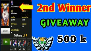 Monthly 2nd Winner GIVEAWAY Thanks for you