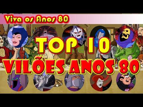 Top 10 Vilões Desenhos Animados Anos 80