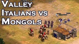 Italians vs Mongols   Valley vs LaaaN
