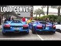 40+ Lamborghini Convoy Entering Mandarin Oriental - Lo Hei Dinner 2017