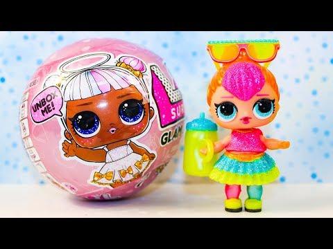 Куклы ЛОЛ Распаковка НЕОН Мультики про Куклы Игрушки для детей #LOL Surprise GLAM GLITTER