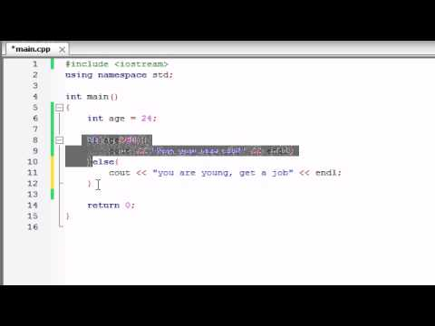 Buckys C++ Programming Tutorials - 17 - if / else Statement