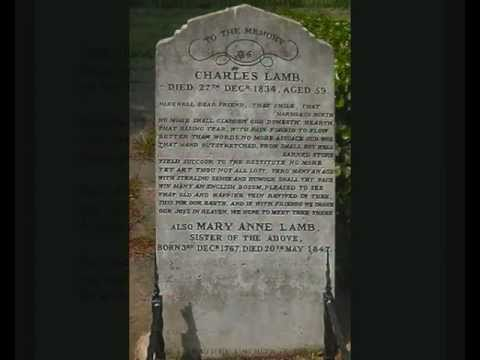 Charles lamb the old familiar faces