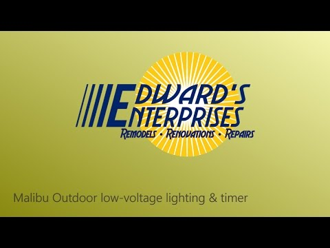 Outdoor Lighting and Timer Service in Malibu