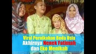 Video Heboh Pernikahan Beda Usia, Bermula dari Pijat, Akhirnya Nenek Fatimah dan Eko Menikah