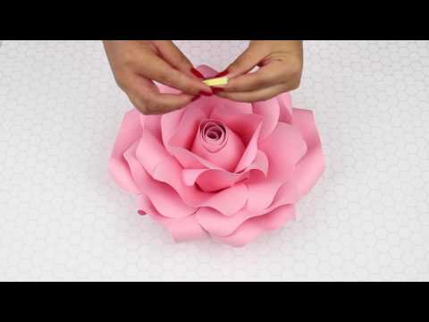 How To Hang Paper Flowers On Fabric | My Wedding Flower Backdrop