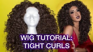 Curling & Stacking 70s Disco Diva Hair with a Synthetic Wig