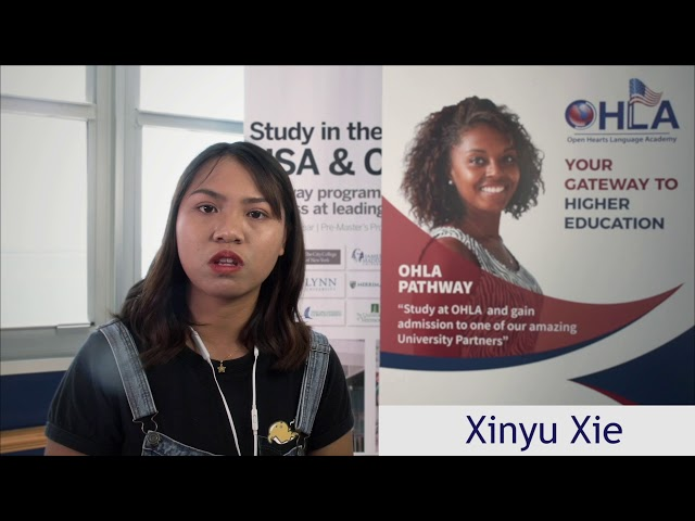 Xinyu Xie  another OHLA Pathway Success Story