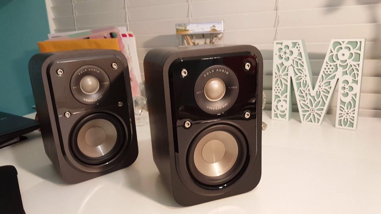 Polk Audio Signature S15 BROWN WALNUT 2 Way Bookshelf Speakers PAIR