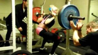 Punishment Squat 1*160kg 14.2.2011 Not happy with it either.