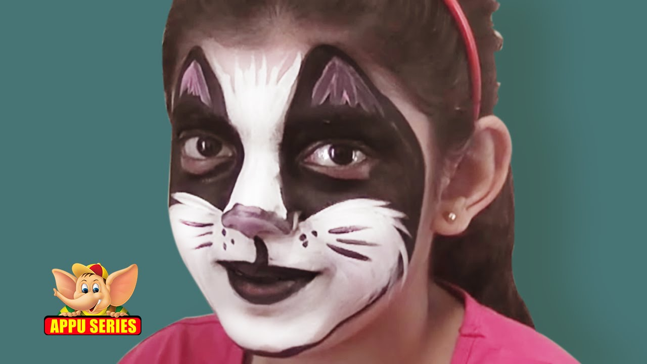 Uncategorized Face Paint Cat face painting learn to paint a cat youtube