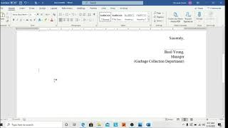How to create Tear-off section in word