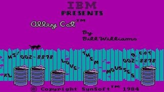 Alley Cat - 1984 PC Game, gameplay