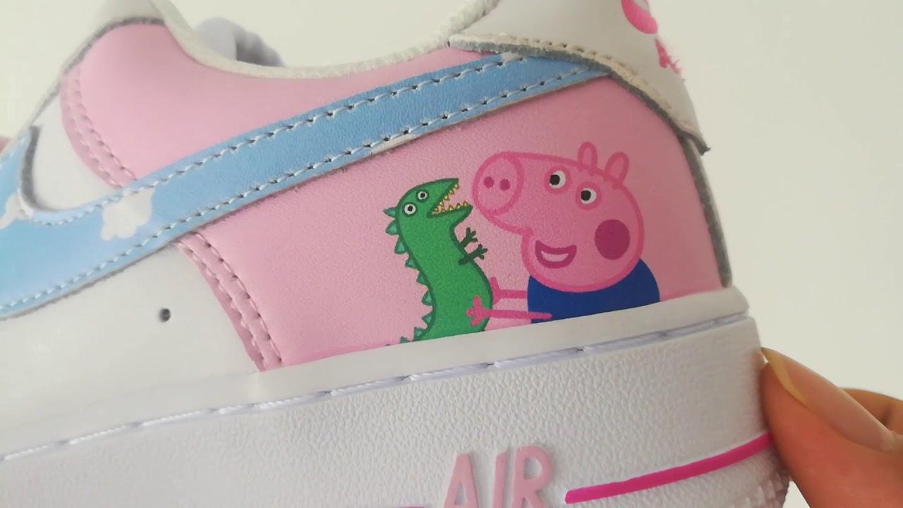 Custom Peppa Pig x Nike Air Force 1 Low Pink