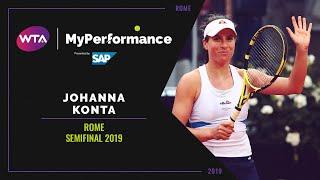My Performance | Johanna Konta | 2019 Rome Semifinal