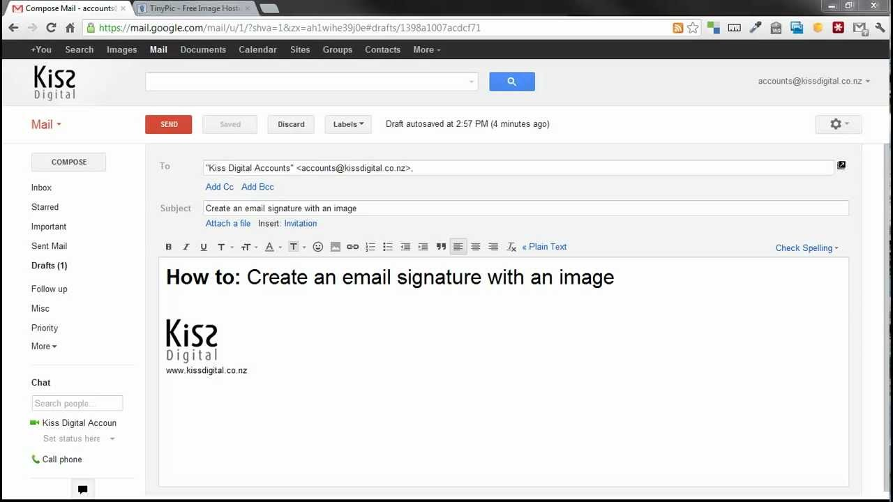 how to add an image to your email signature in google mail