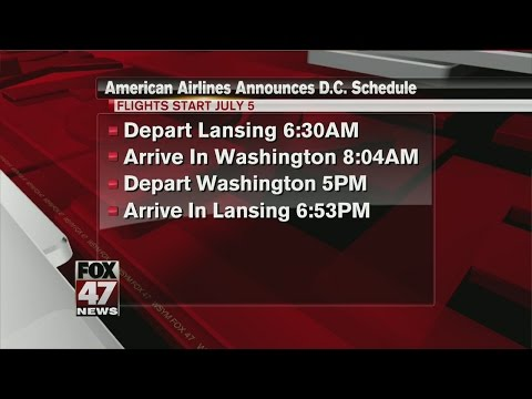 American Airlines Announces D.C. Flight Schedule