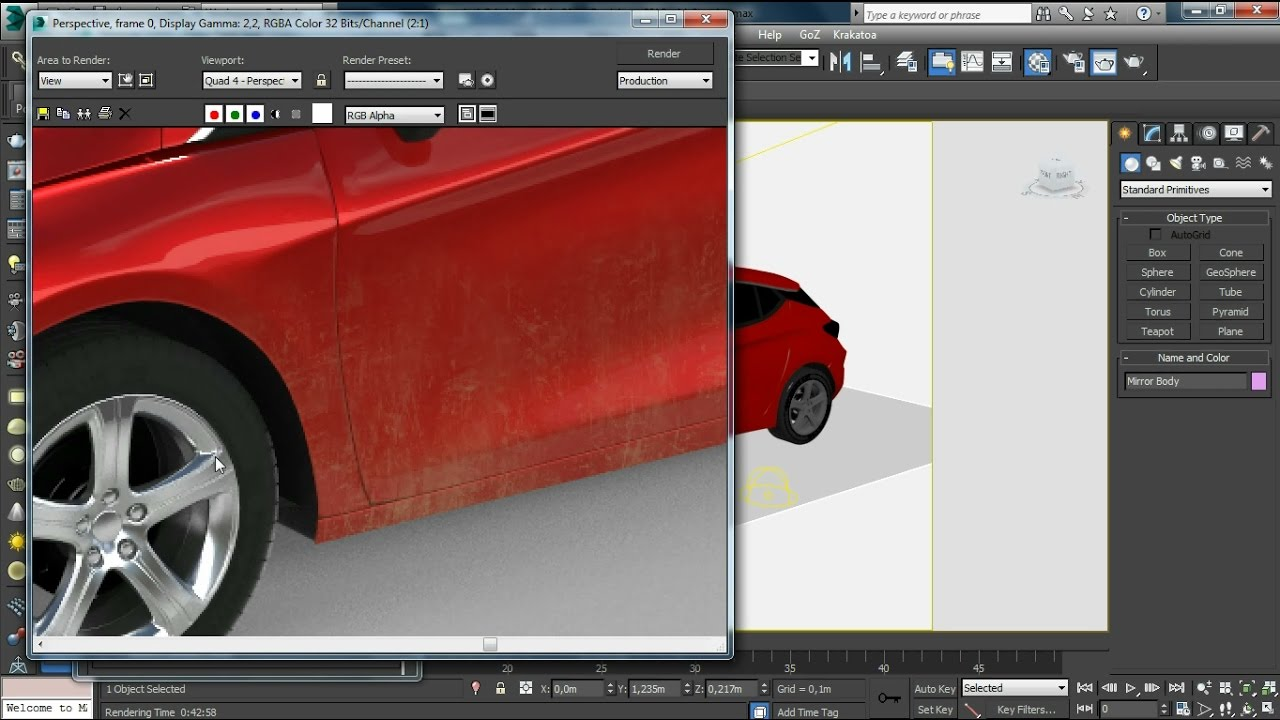 Vray Cgi Car Paint Dirt Dust Procedural Texturing Tutorial Youtube