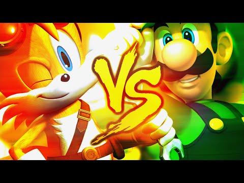 Tails VS. Luigi   Duelo de Titãs