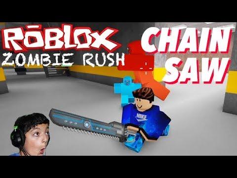 Roblox Zombie Rush Gun Showcase Secondary Chain Saw Youtube