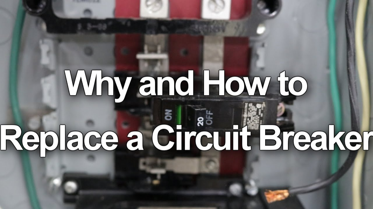 how to replace change a circuit breaker in your electrical panel [ 1280 x 720 Pixel ]